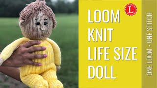 LOOM KNITTING Doll Life Size Chubby on 41-peg Round Loom | Loomahat