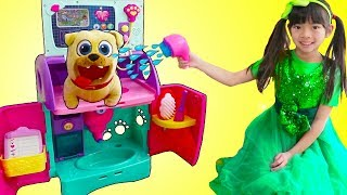 Emma Pretend Play Feeding & Giving Bath To Pet Animals Toys for Kids