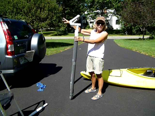 Homemade PVC kayak loader