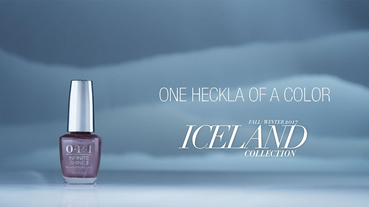 Video:OPI Iceland Shade Story | One Heckla of a Color