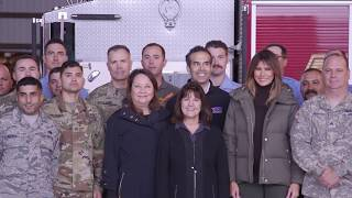 First Lady Melania Trump and Mrs. Karen Pence Visit Texas