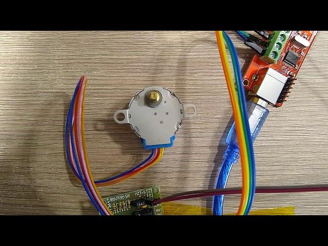Stepper motor controlled by Numato GPIO Board