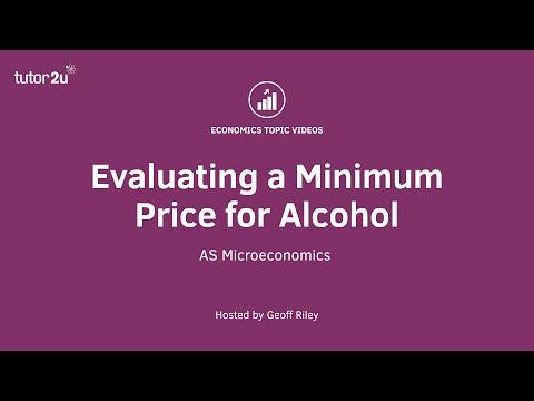 Evaluation: Minimum Prices for Alcohol