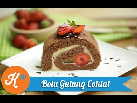 Resep Bolu Gulung Coklat (Chocolate Swiss Roll Recipe Video) | NINA CHRESTELA