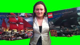 BrickQueen LEGO 4184 4195 Pirates of the Caribbean The Black Pearl Queen Anne's Revenge Comparison