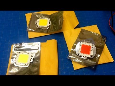 High Power LED Chips: [50W Red] : [100W CW] : [100W WW]