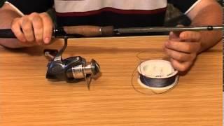 Как продеть леску на катушку для удочки