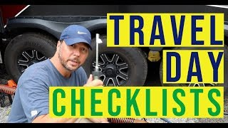 RV Travel Day Checklist! | Full Camp Breakdown and Setup | Full Time RV | Changing Lanes!