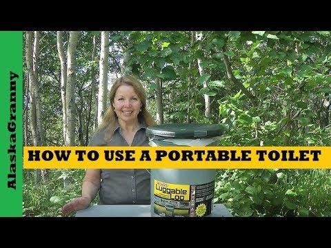 How to Use Portable Toilet - Emergency Sanitation Hygiene Supplies to Stockpile