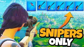 New SNIPERS SHOOTOUT Gamemode in FORTNITE! (INSANE)