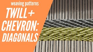 Weaving For Beginners: Twill And Chevron Weave Pattern