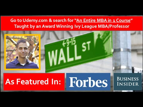 An Entire MBA in 1 Course By An Award Winning MBA Professor (See Description for $9.99 Coupon)