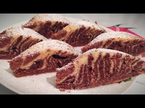 Пирог Зебра Простой рецепт к чаю