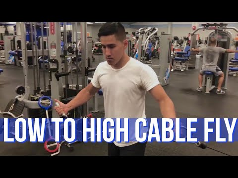 Low to High Cable Fly : How To