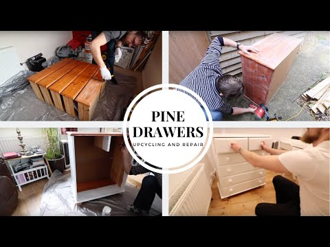 Pine Drawers Makeover - Upcycling and Repair.