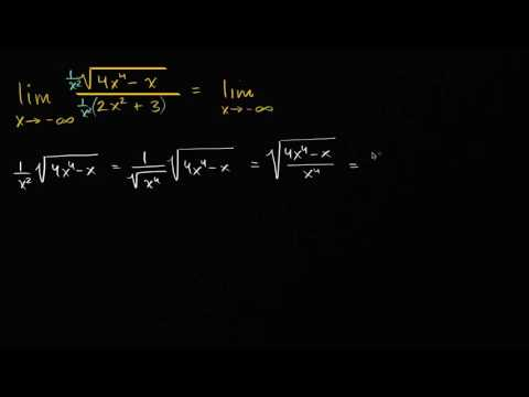 Limits at infinity of quotients with square roots (even