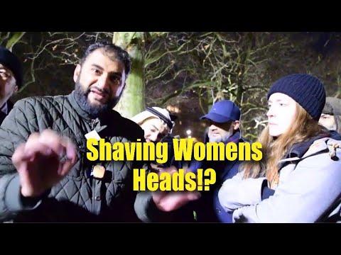 P1 - Shaving Womens Heads!? Adnan Vs Christian Lady | Speakers Corner | Hyde Park