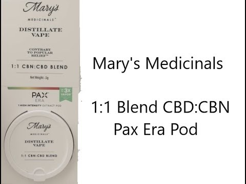 Mary's Medicinals CBN/CBD Pax Pod Review 1:1 Blend