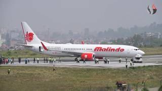 घाँसे मैदानबाट यसरी हटाइयो मालिन्दो एयरको जहाज (भिडियो)