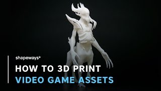 How to 3D Print Video Game Assets | Shapeways Tutorials