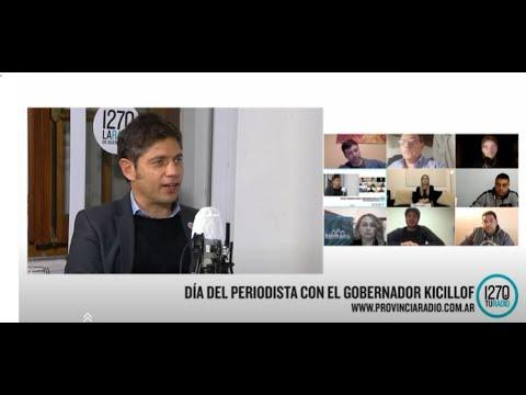 Entrevista de Axel Kicillof con periodistas bonaerenses