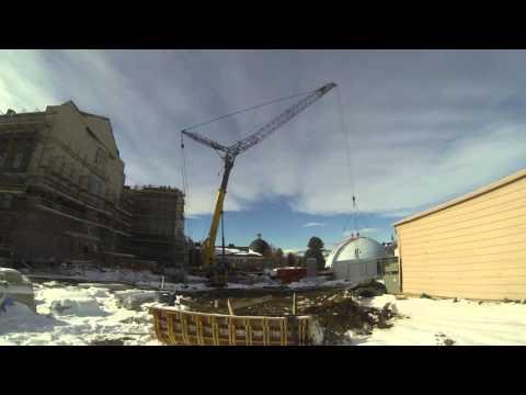 Daniel Felix Ritchie Building: Dome Lift Time Lapse