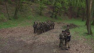 Pramilitary war training in Polish forests