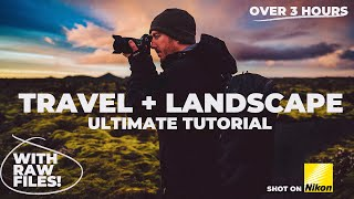 FREE 3 HOUR Landscape Photography Tutorial WITH RAW FILES! Nikon Z6
