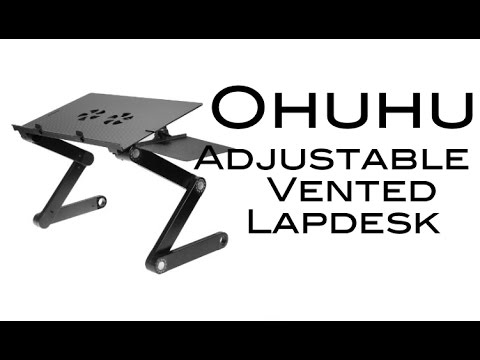 Ohuhu Adjustable Vented Lapdesk with Mouse Board