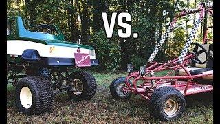 Monster Truck Kart vs. Subaru Yerf Dog Showdown!