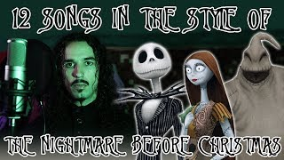 12 Songs in the Style of The Nightmare Before Christmas