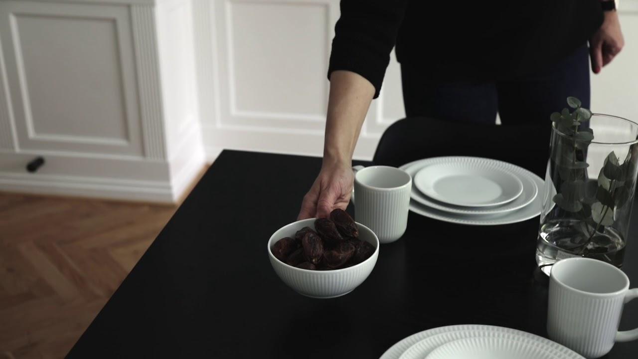 Video - Bodum Dinerborden Douro Wit Ø 28 cm - 4 Stuks