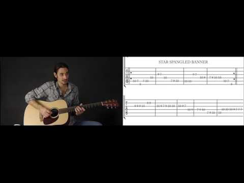 Beginner Guitar Lesson 7 : How To Play The Star Spangled Banner