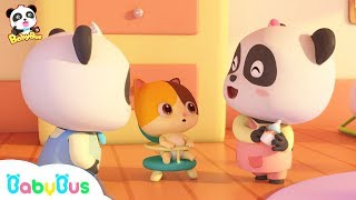 Little Pandas Take Care of Baby Kitten | Baby's Daily Routine | Kids Safety Tips at Home | BabyBus