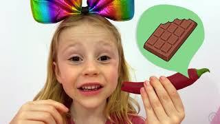 Nastya Et Papa Jouent Le Défi Des Légumes Au Chocolat