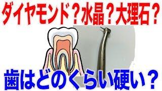 水晶と同じ!?歯はとてもとても硬いのです