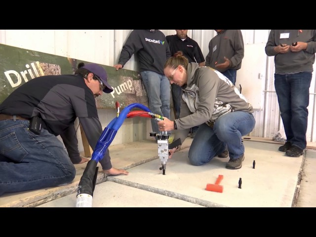 Settled concrete repaired in 15 seconds – you can do it!