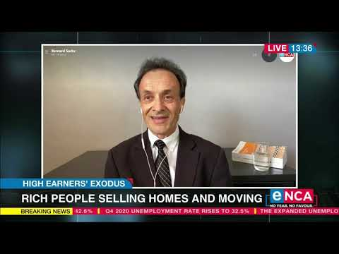 Rich people selling homes and moving