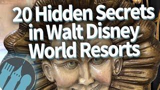 20 Hidden Secrets in Walt Disney World Hotels!