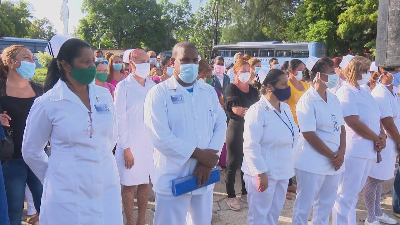 Más de un centenar de enfermeros granmenses parten a la Habana para enfrentar la Covid-19