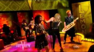 "Лимонадный рот, Lemonade Mouth LIVE ""Determinate"" on The View 6/10/11"