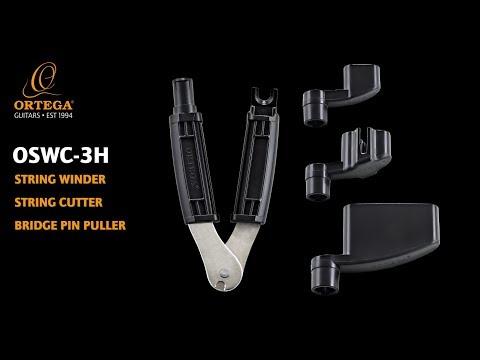 3 in 1 STRING WINDER, CUTTER & PIN PULLER   OSWC-3H   ORTEGA GUITARS