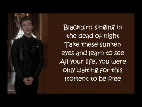 Glee - Blackbird (lyrics)