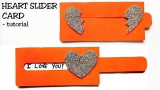 Heart Slider Card Tutorial | Love Slider Card Tutorial | Card Making Idea
