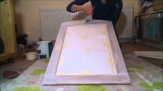 How To Paint A Wooden Mirror In A Shabby Chic Style Tutorial VIKKIES VINTAGE