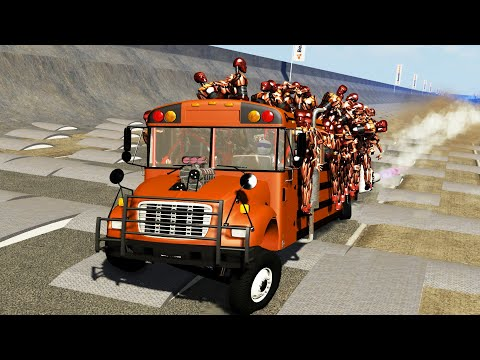 BeamNG DRIVE - Like in India BUS crashes 7 - Crash Therapy