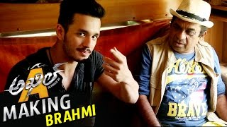 Akhil fun with Brahmanandam - Akhil Movie Making Video