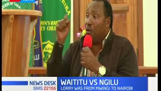 Kiambu governor Ferdinard Waititu challenges to sue Governor Charity Ngilu over charcoal ban