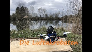 Drone FPV freestyle flight over a lake - Realacc DC220 frame with GoPro Hero 6 Black