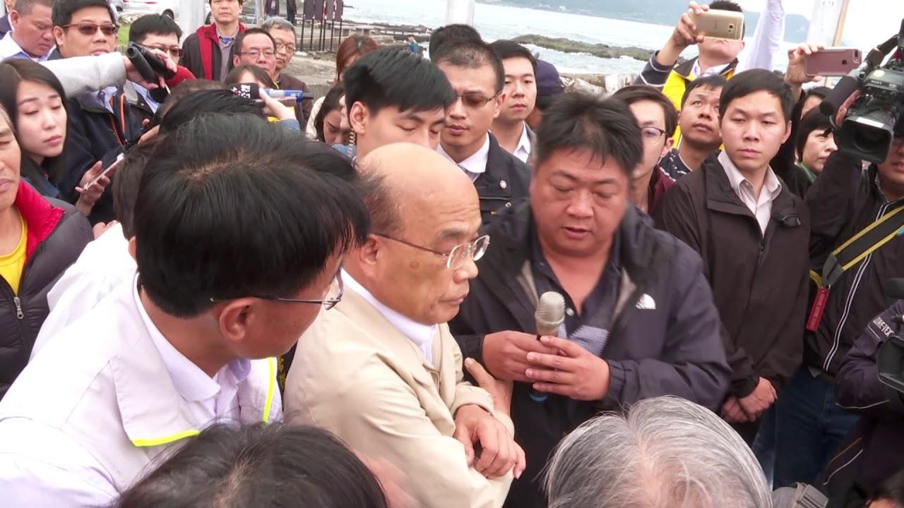 2019年3月26日行政院長蘇貞昌視察鮑魚產銷情形